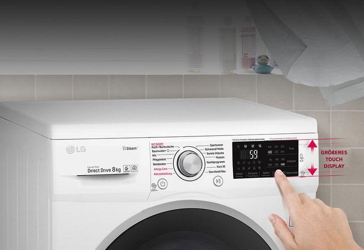 Lg f 14wm 7en0 waschmaschine mit 1400 u min. in weiß kaufen saturn