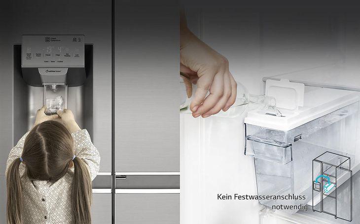Lg Side By Side Kühlschrank Zieht Kein Wasser : Lg gsl icez side by side in graphit kaufen saturn